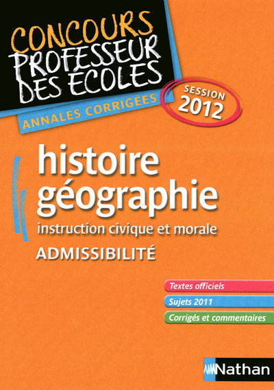 HISTOIRE-GEO CRPE 2012 (ADMISS
