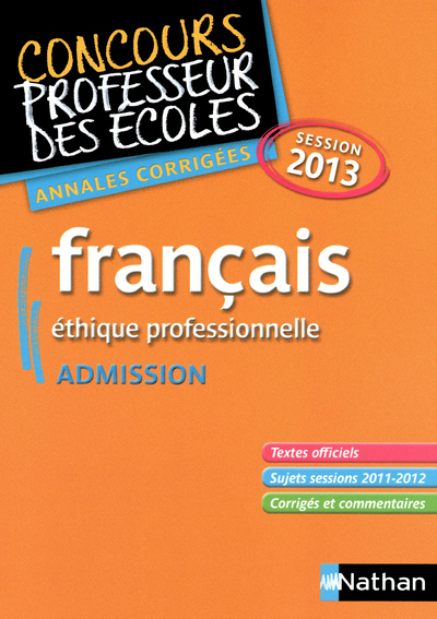 ANNALES CORR FRANCAIS ADMISSIO