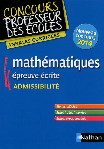 MATHS ADMISSIB ANNALES CORRIGE