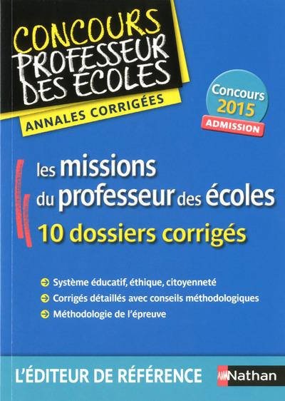 ANNALES - MISSIONS PROFESSEUR