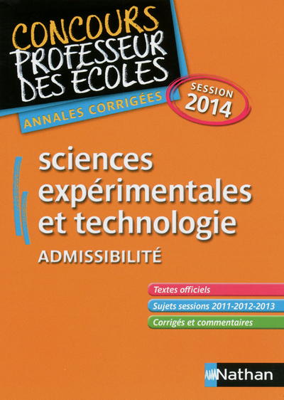 SCIENCES - ADMISSIBILITE 2014