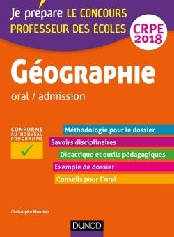 GEOGRAPHIE - PROFESSEUR DES ECOLES - ORAL / ADMISSION - CRPE 2018