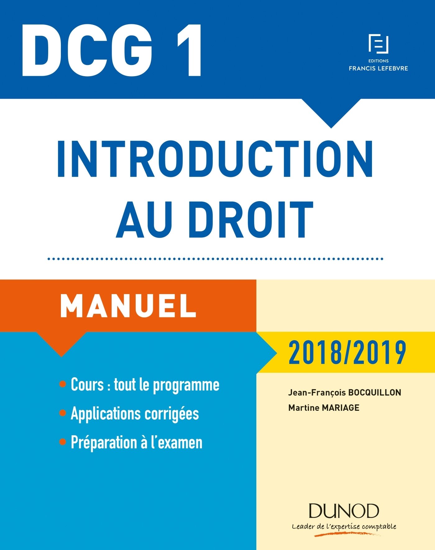 DCG 1 - INTRODUCTION AU DROIT - 12E ED. - MANUEL - 2018/2019