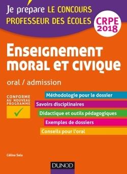 ENSEIGNEMENT MORAL ET CIVIQUE - PROFESSEUR DES ECOLES - ORAL, ADMISSION - CRPE 2018