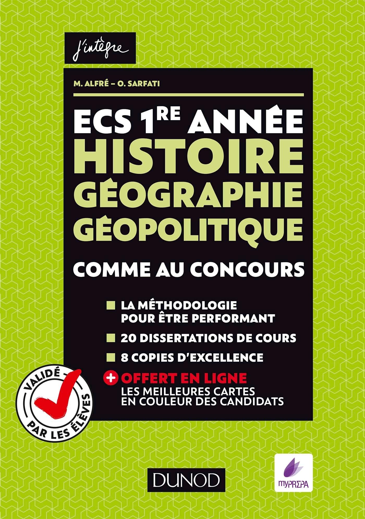 ECS 1RE ANNEE - HISTOIRE GEOGRAPHIE GEOPOLITIQUE - COMME AU CONCOURS