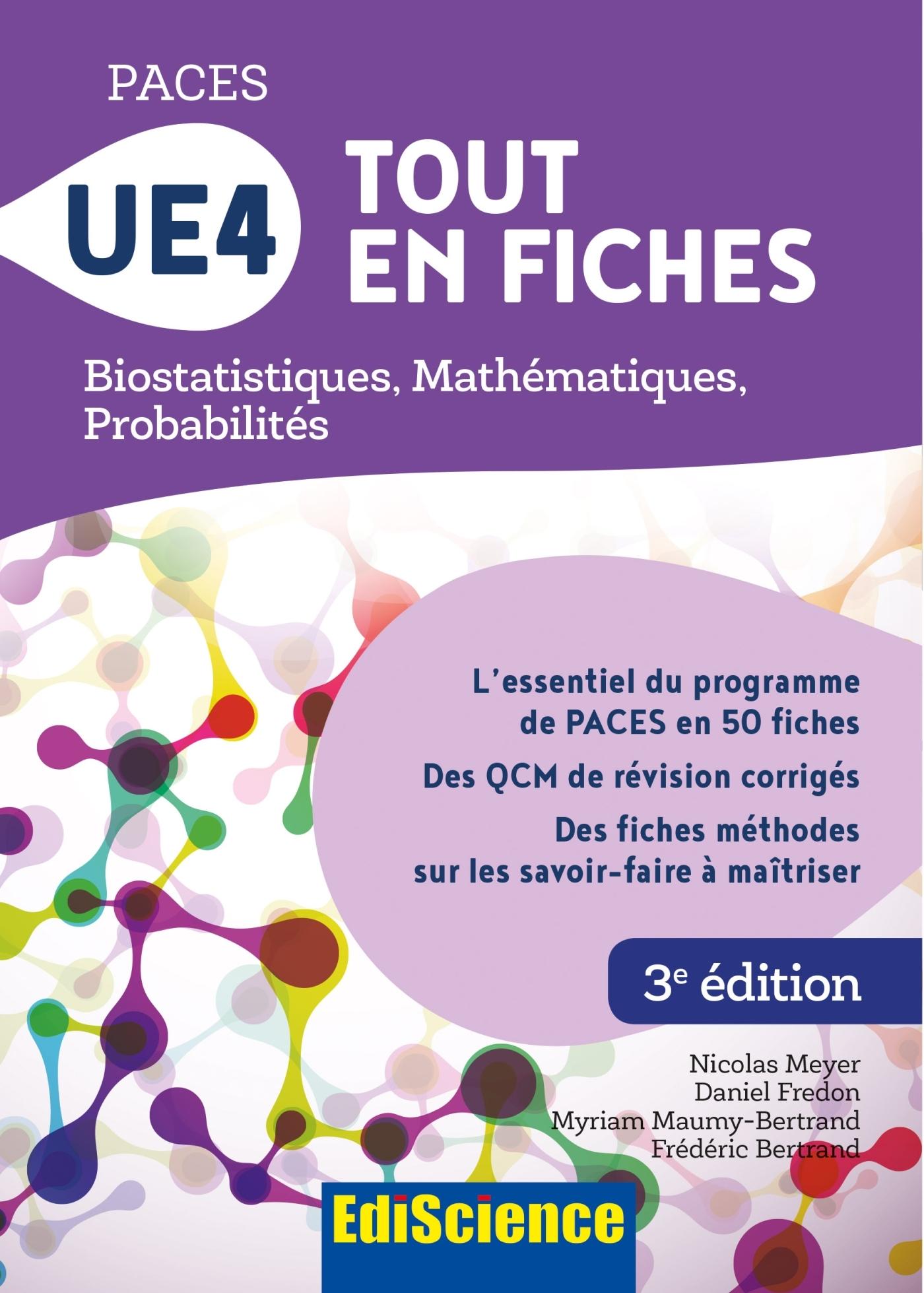 PACES UE4 TOUT EN FICHES - MATHEMATIQUES, PROBABILITES, BIOSTATISTIQUES
