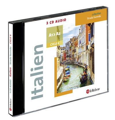 COFFRET 3 CD AUDIO ITALIEN COLLEGE STRADA FACENDO