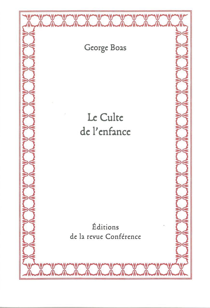 CULTE DE L'ENFANCE (LE)