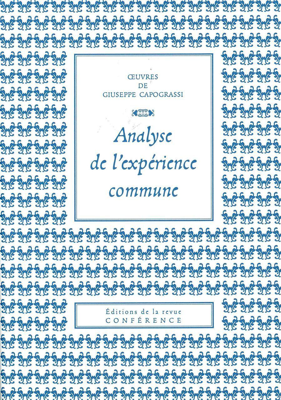 ANALYSE DE L'EXPERIENCE COMMUNE
