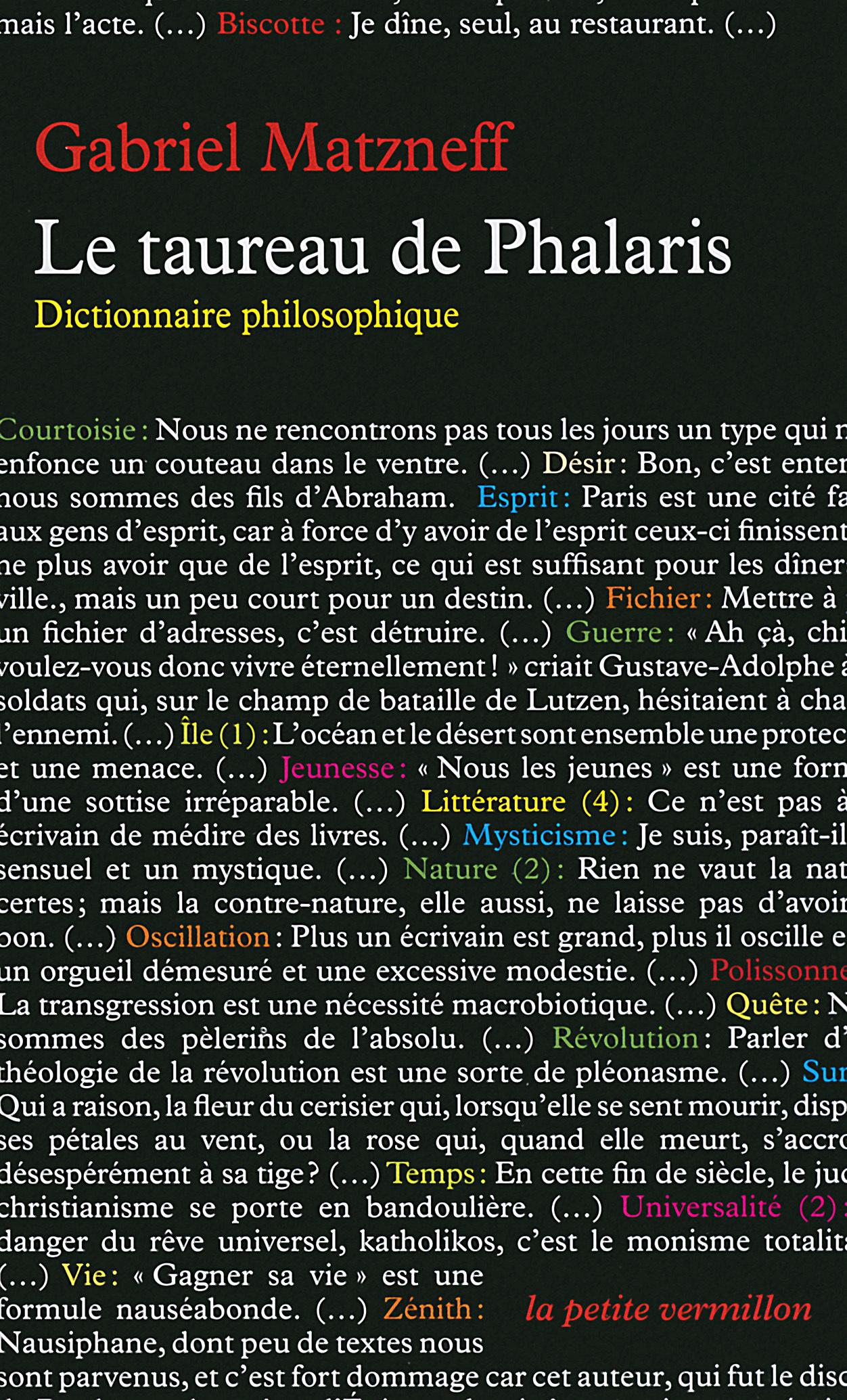 TAUREAU DE PHALARIS (DICTIONNAIRE PHILOSOPHIQU)