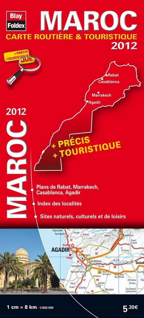 MAROC 2012 - CARTES ROUTIERES ET TOURISTIQUES INTERNATIONALES- 1/800 000