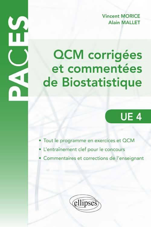 QCM CORRIGEES ET COMMENTEES DE BIOSTATISTIQUE UE4