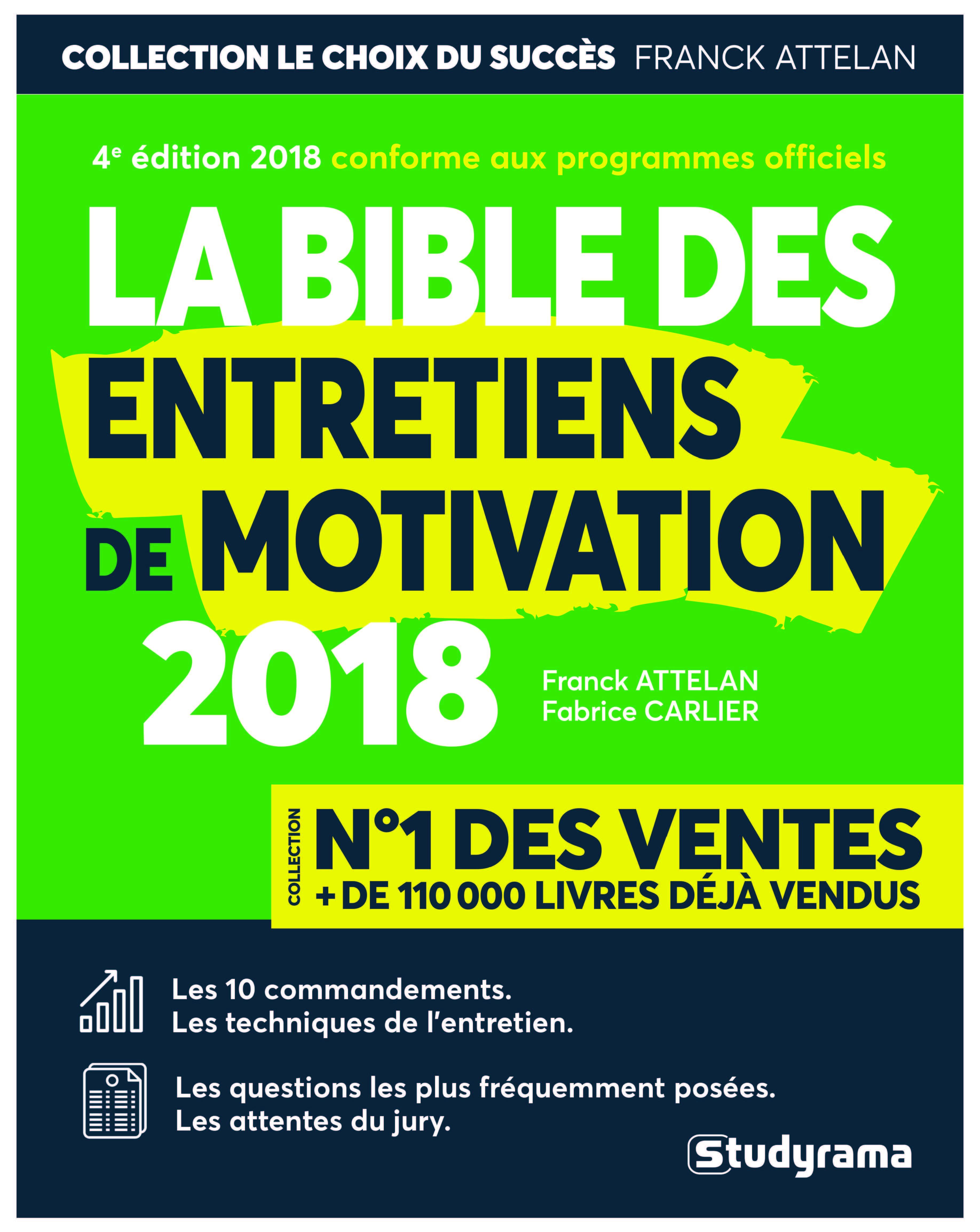 BIBLE DES ENTRETIENS DE MOTIVATION 2018 4E ED (LA)