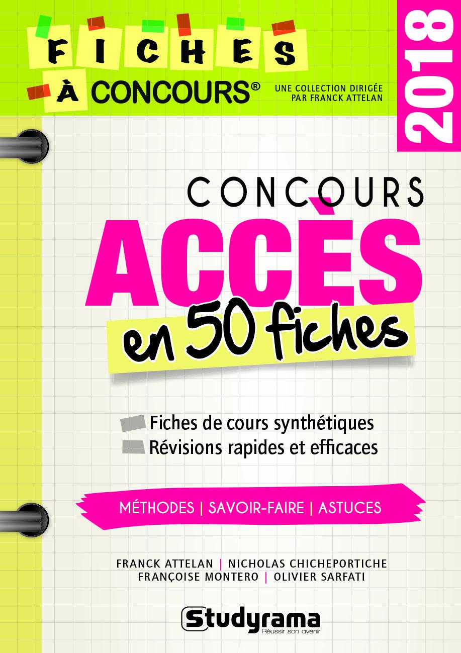 CONCOURS ACCES EN 50 FICHES 2018