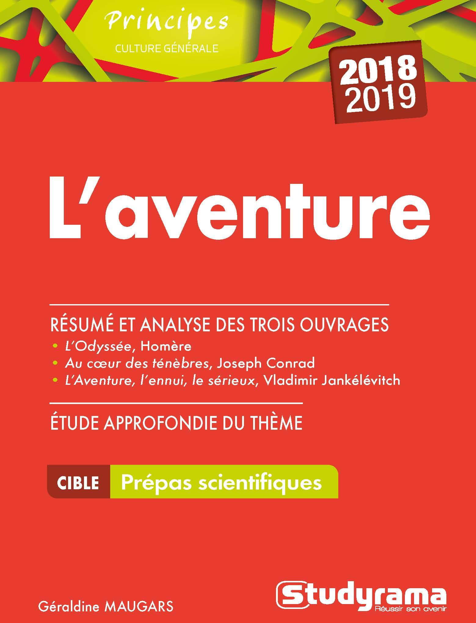 AVENTURE (L') THEMES PREPAS SCIENTIFIQUES 2018-2019