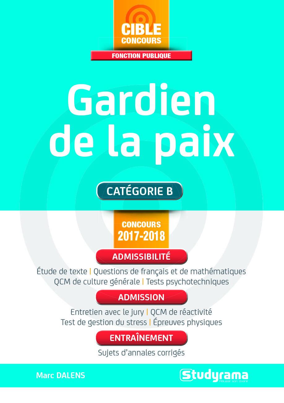 GARDIEN DE LA PAIX CONCOURS 2017/2018