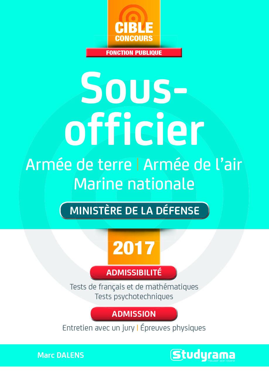 SOUS-OFFICIER MINISTERE DE LA DEFENSE 2017/2018