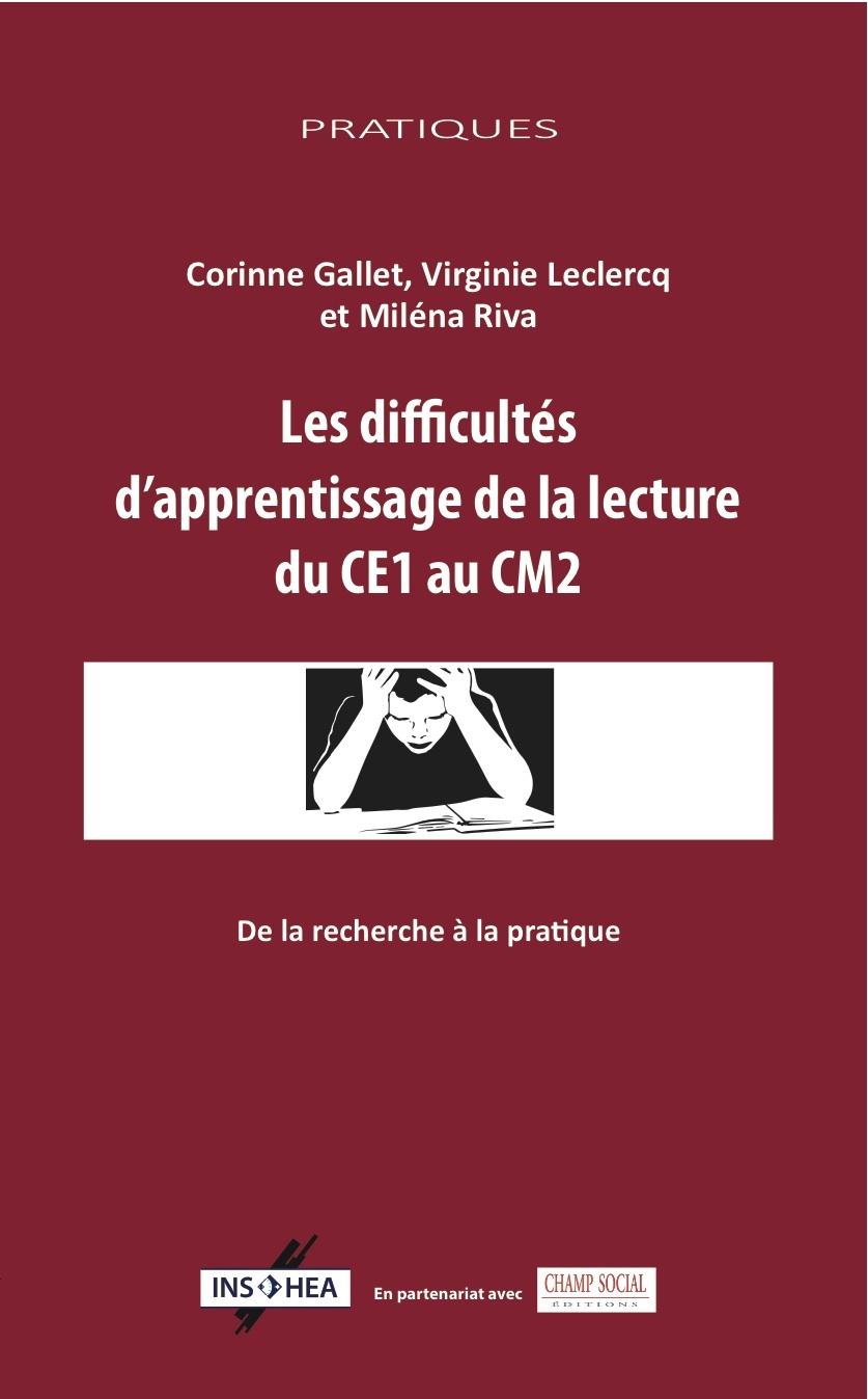 LES DIFFICULTES D APPRENTISSAGE DE LA LECTURE DU CE2 AU CM1
