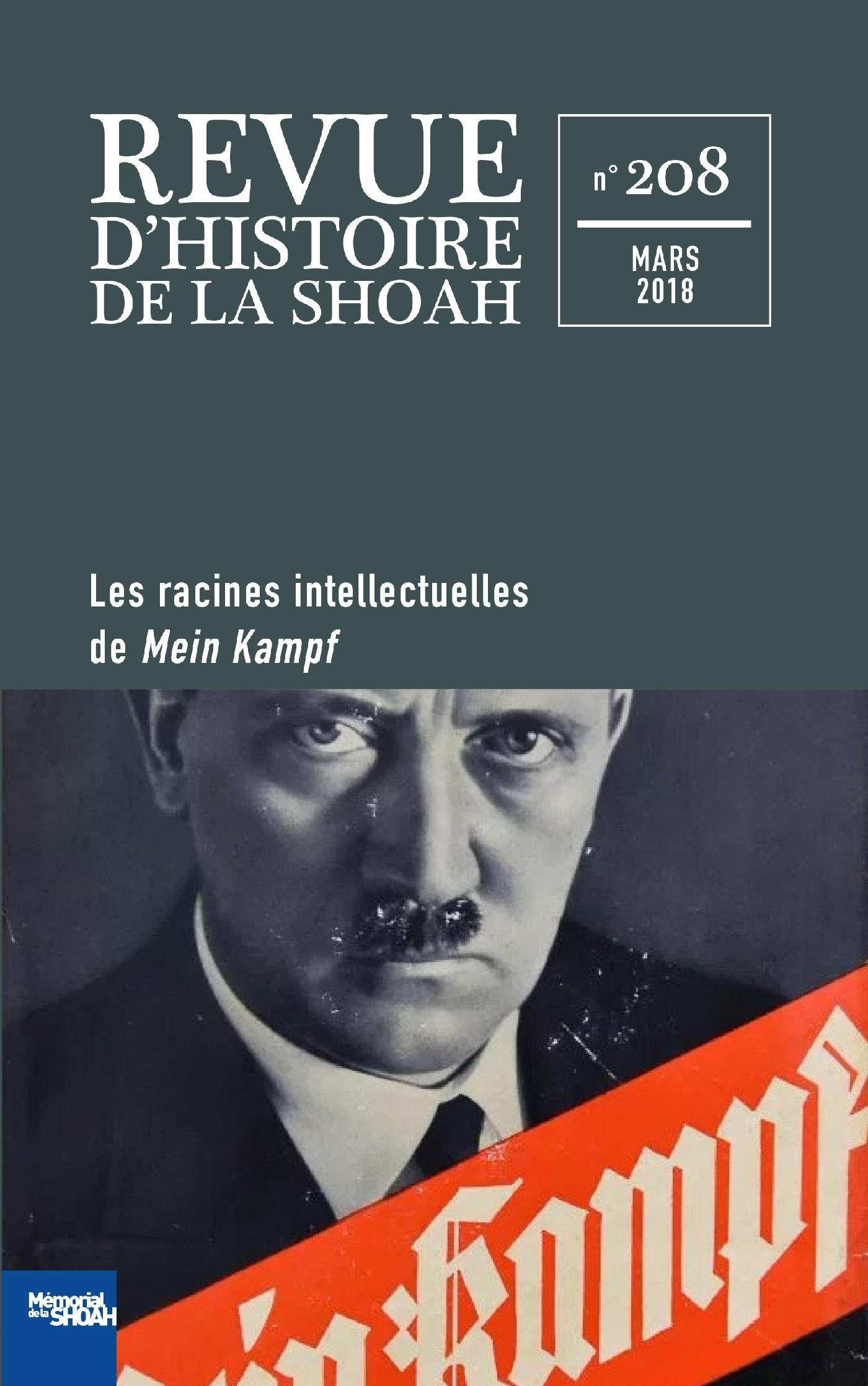 REVUE D'HISTOIRE DE LA SHOAH N  208