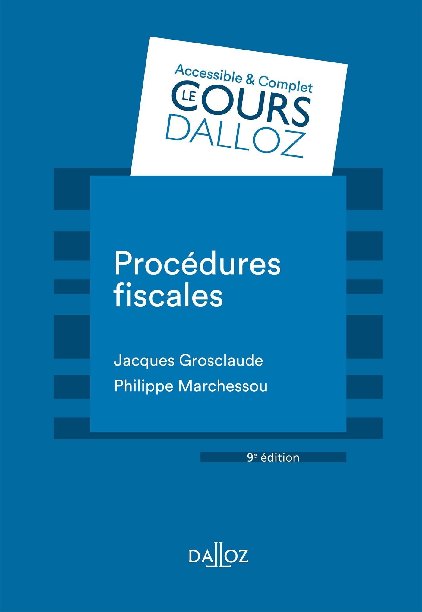 PROCEDURES FISCALES - 9E ED.