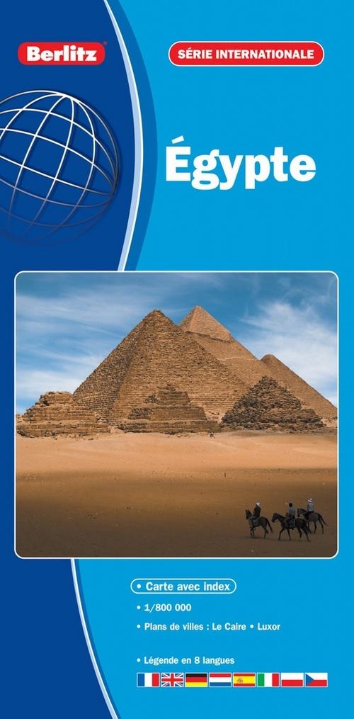 EGYPTE - CARTE ROUTIERE ET TOURISTIQUE