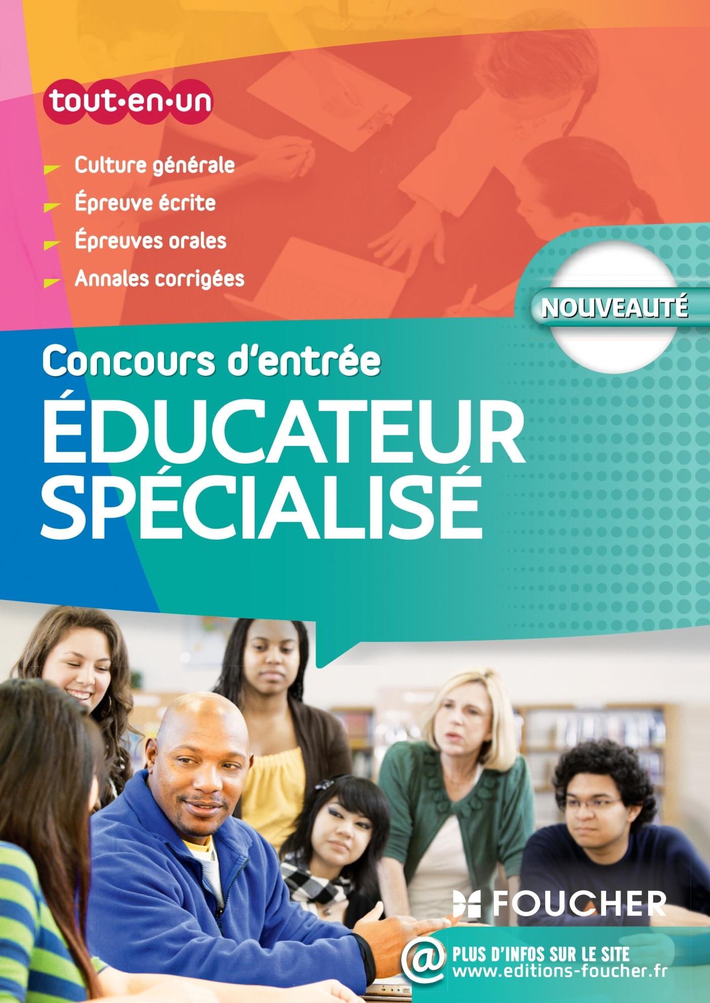 EDUCATEUR SPECIALISE - CONCOURS D'ENTREE - N 38