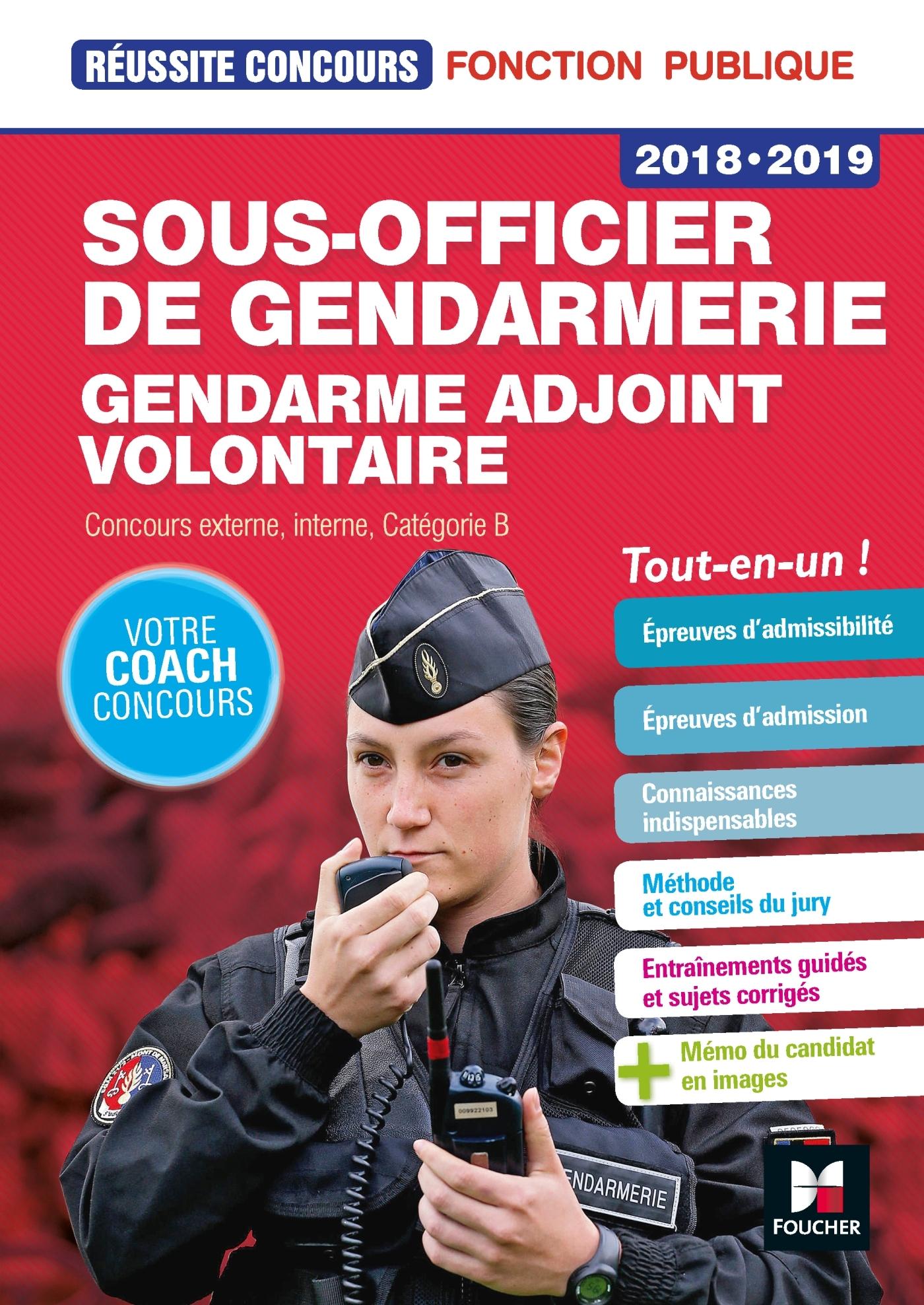 REUSSITE CONCOURS SOUS-OFFICIER DE GENDARMERIE / GENDARME ADJOINT VOLONTAIRE
