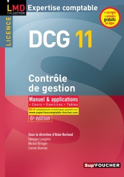 DCG 11 - CONTROLE DE GESTION - MANUEL ET APPLICATIONS - 6E EDITION