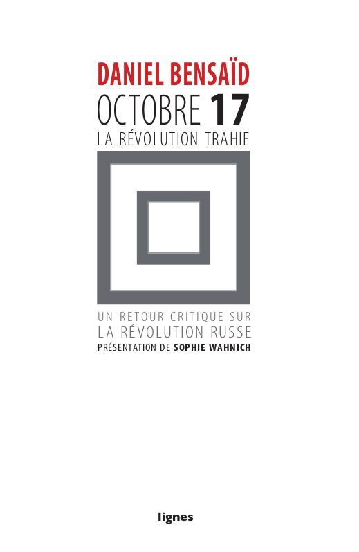 OCTOBRE 17,LA REVOLUTION TRAHIEU