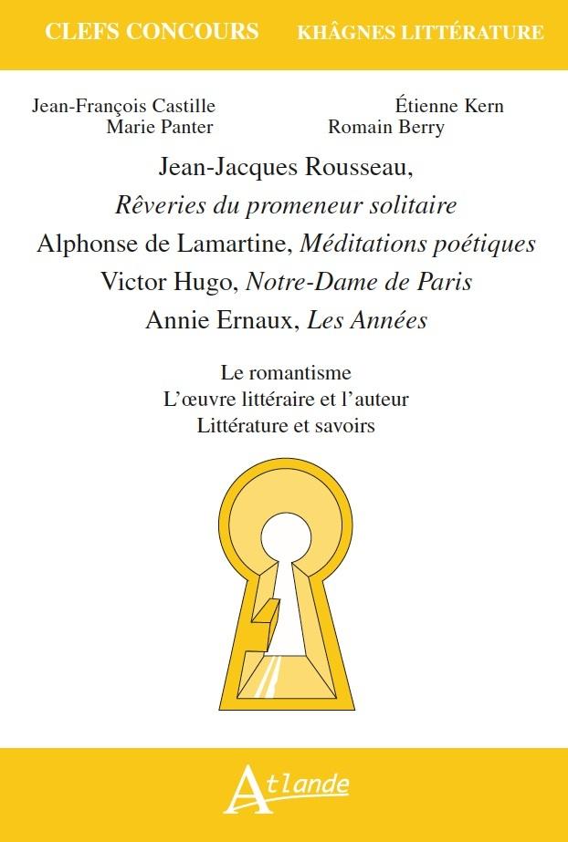 ROUSSEAU, REVERIES DU PROMENEUR SOLITAIRE, ALPHONSE DE LAMAR