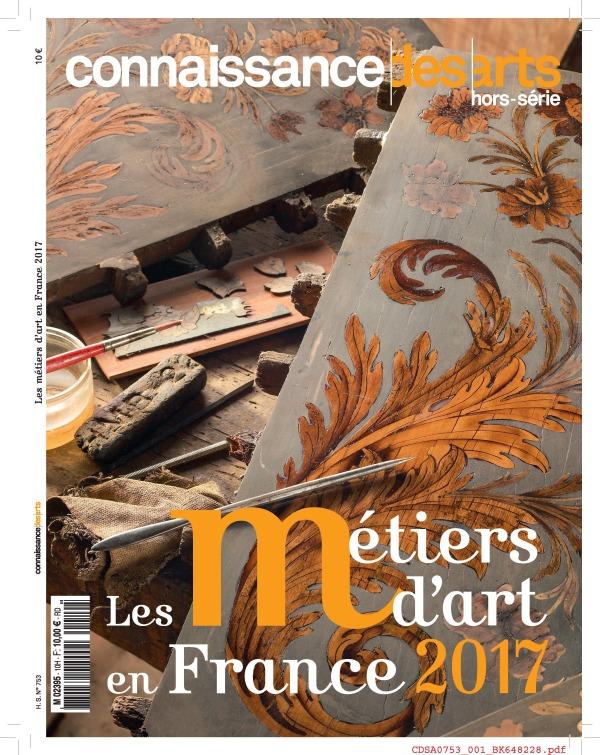 LES METIERS D'ART EN FRANCE 2017