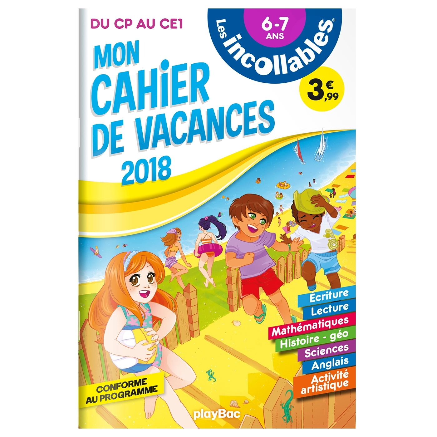 CAHIER DE VACANCES INCOLLABLES - CP A CE1