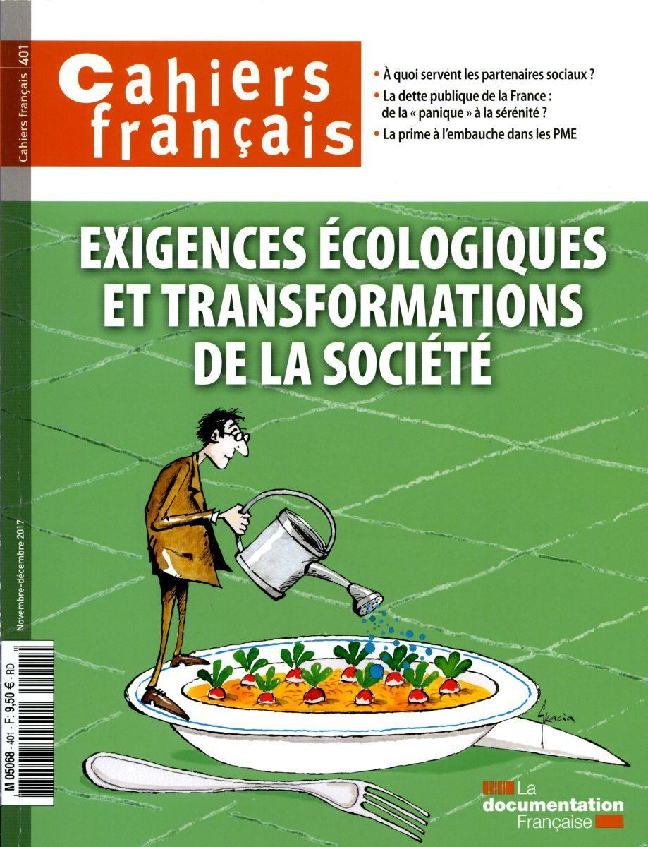 EXIGENCES ECOLOGIQUES ET TRANSFORMATIONS DE LA SOCIETE