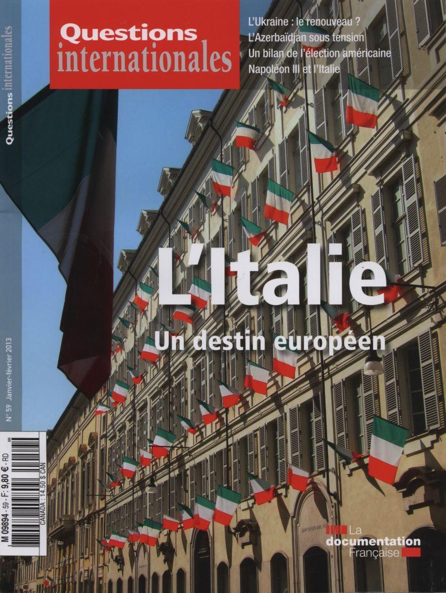 L'ITALIE - UN DESTIN EUROPEEN QI N 59.