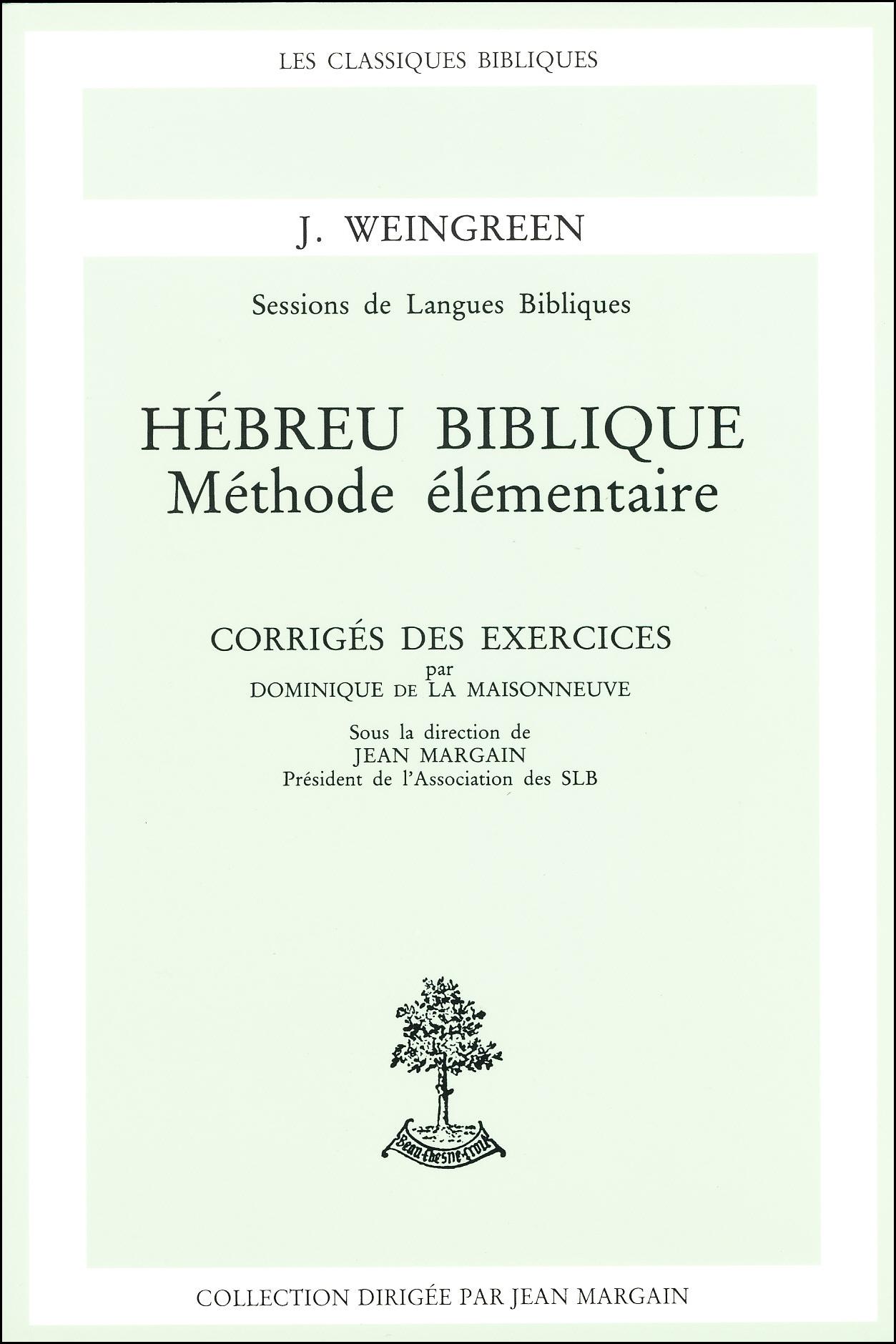 HEBREU BIBLIQUE CORRIGE DES EXERCICES