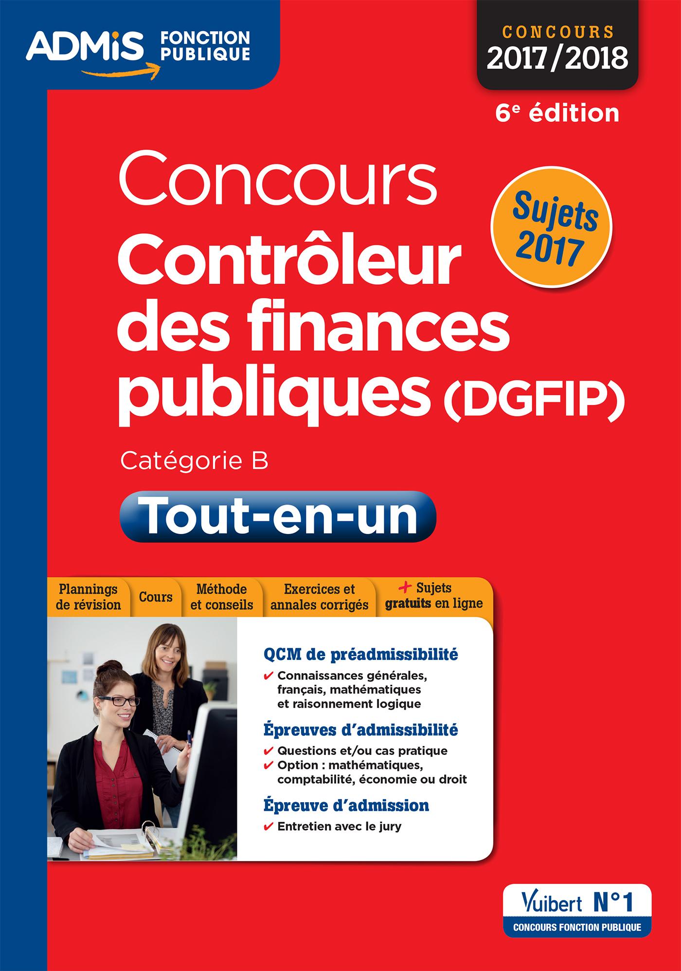 CONCOURS CONTROLEUR DES FINANCES PUBLIQUES DGFIP CAT B TOUT EN UN 6E EDT