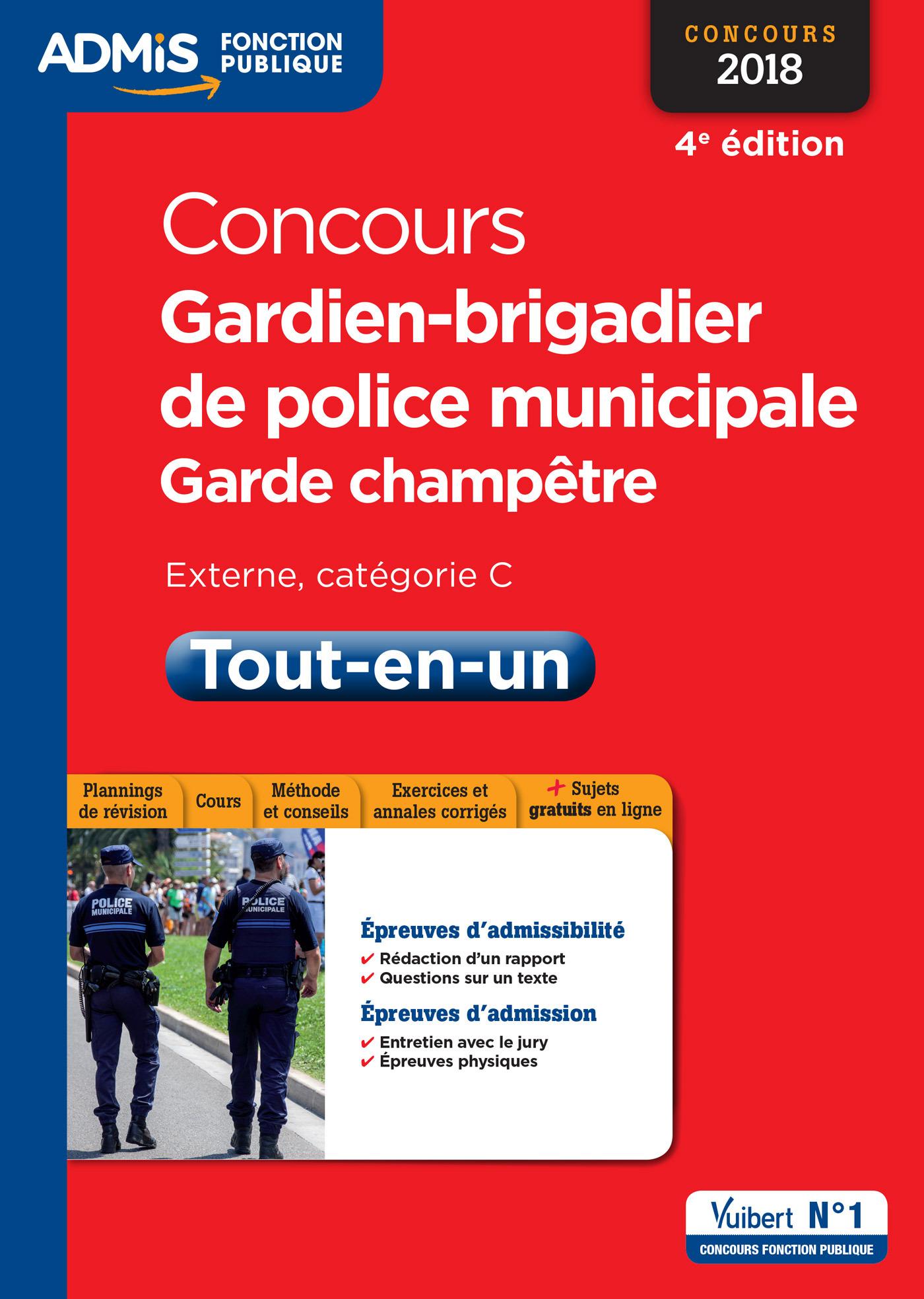 CONCOURS GARDIEN DE POLICE MUNICIPALE ET GARDE CHAMPETRE CAT C TOUT EN UN