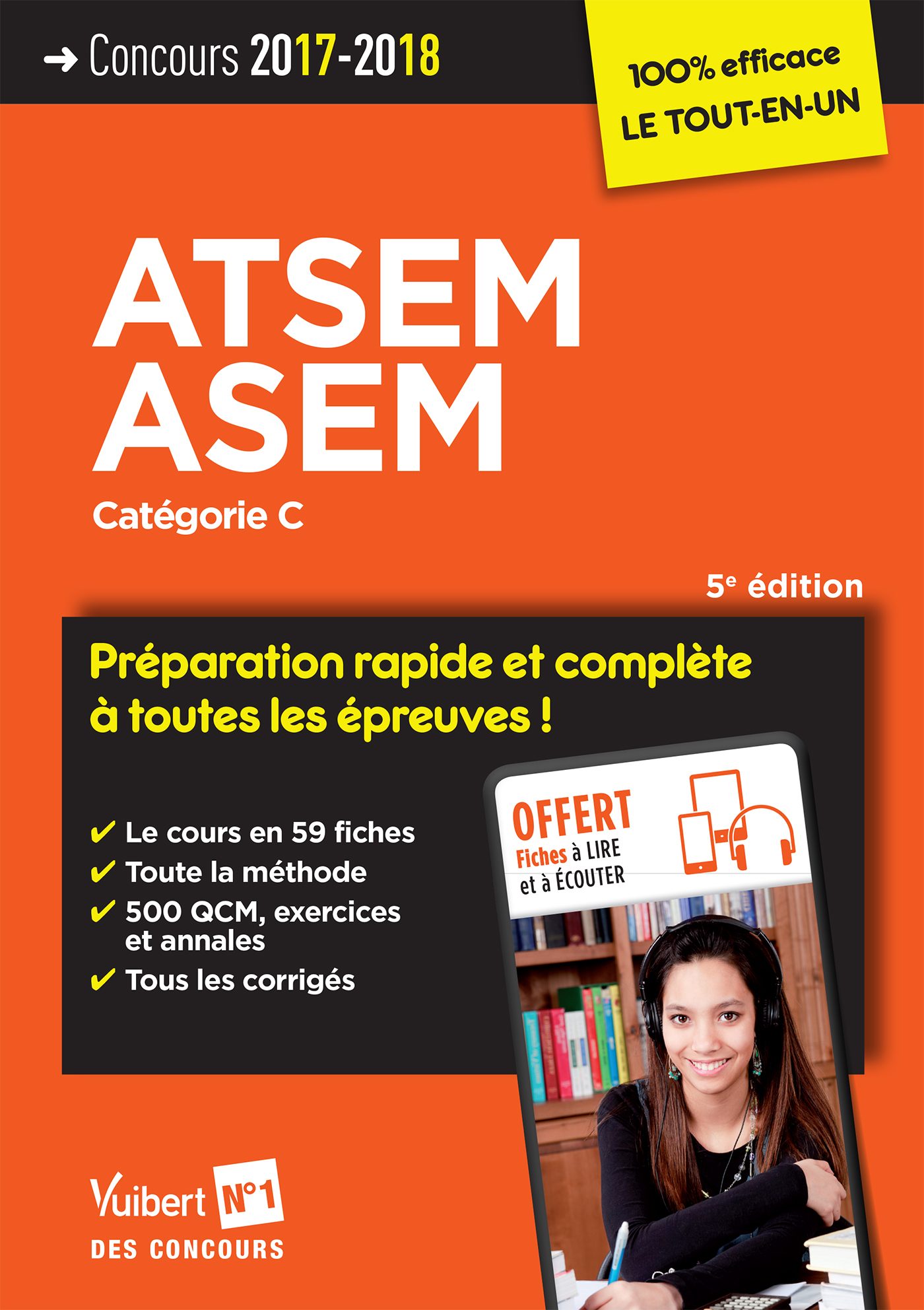 CONCOURS ATSEM ET ASEM CATEGORIE C PREPARATION COMPLETE ET RAPIDE EPREUV 5EDT