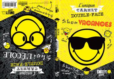 SMILEY - L'UNIQUE CARNET DOUBLE-FACE ECOLE/VACANCES