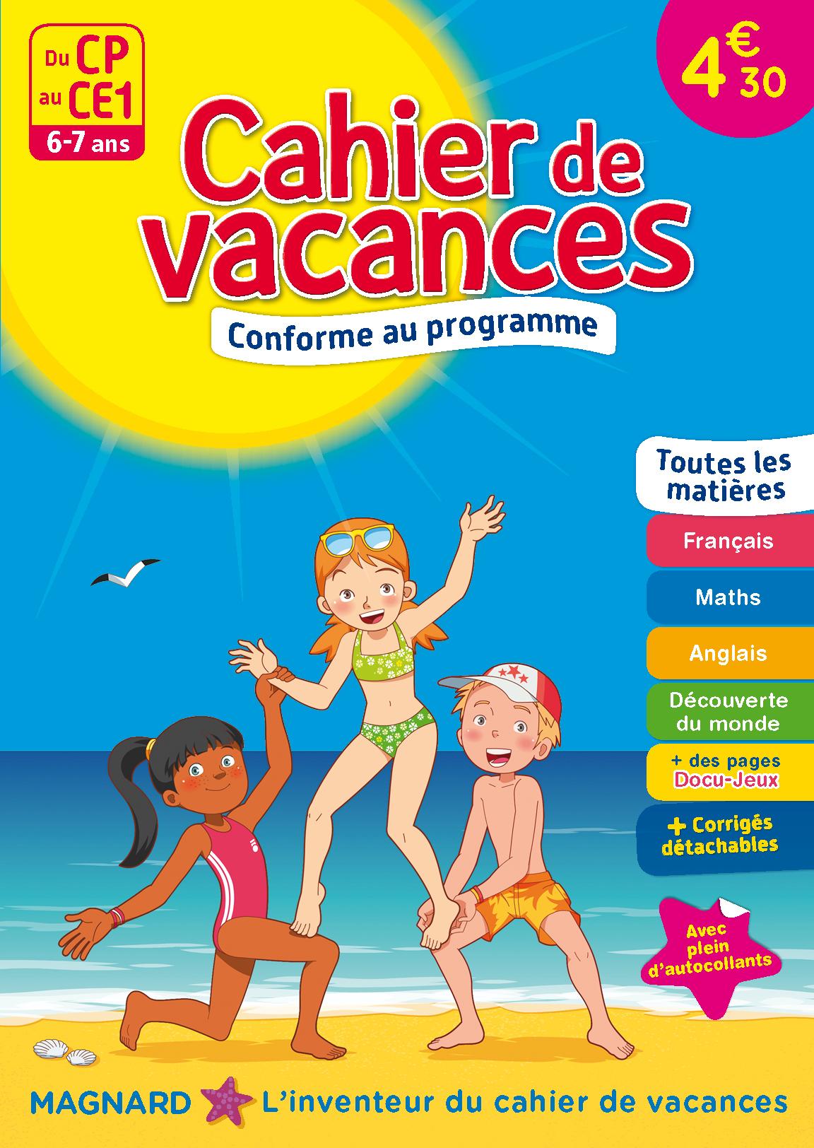 DU CP AU CE1 CAHIERS DE VACANCES 2017 6 7 ANS