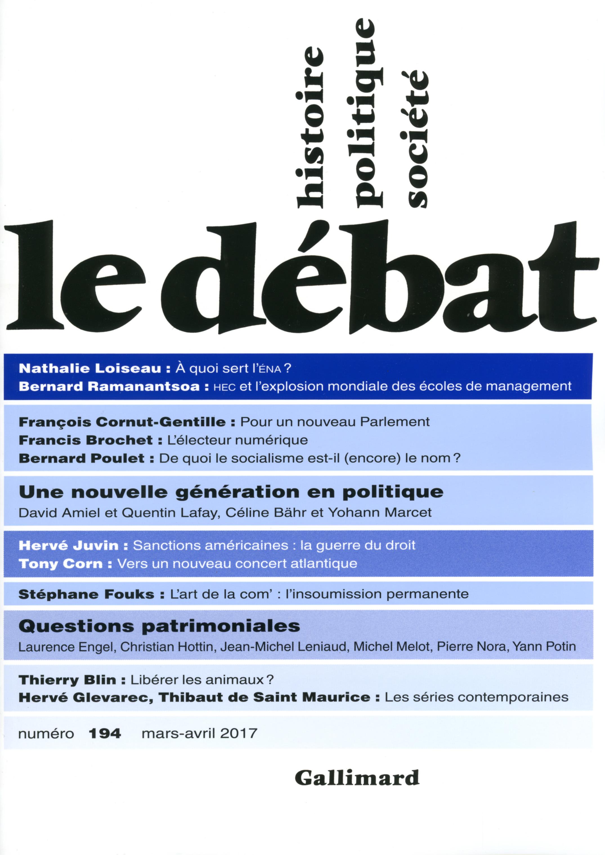 LE DEBAT N194 (MARS-AVRIL 2017)