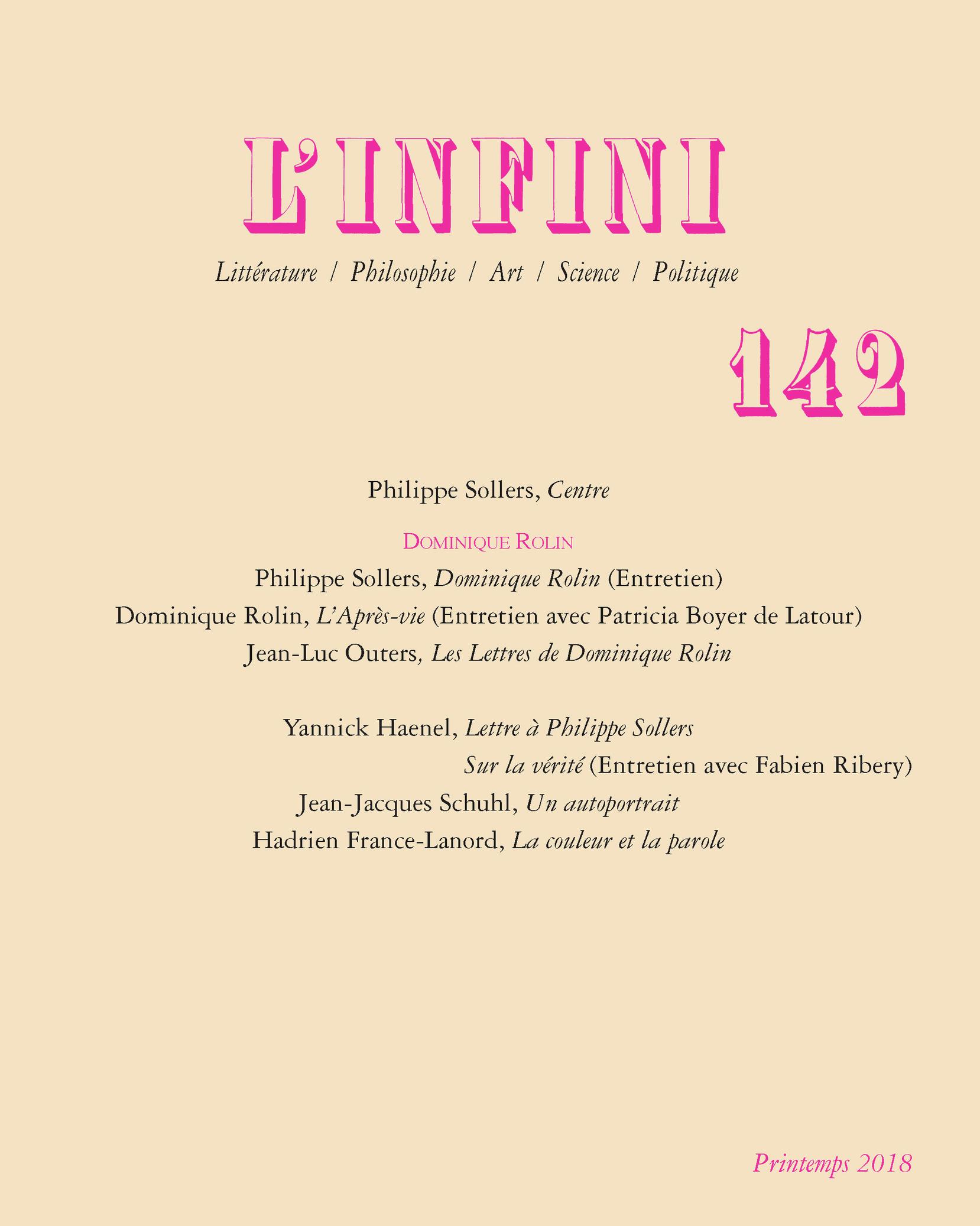 L'INFINI N142