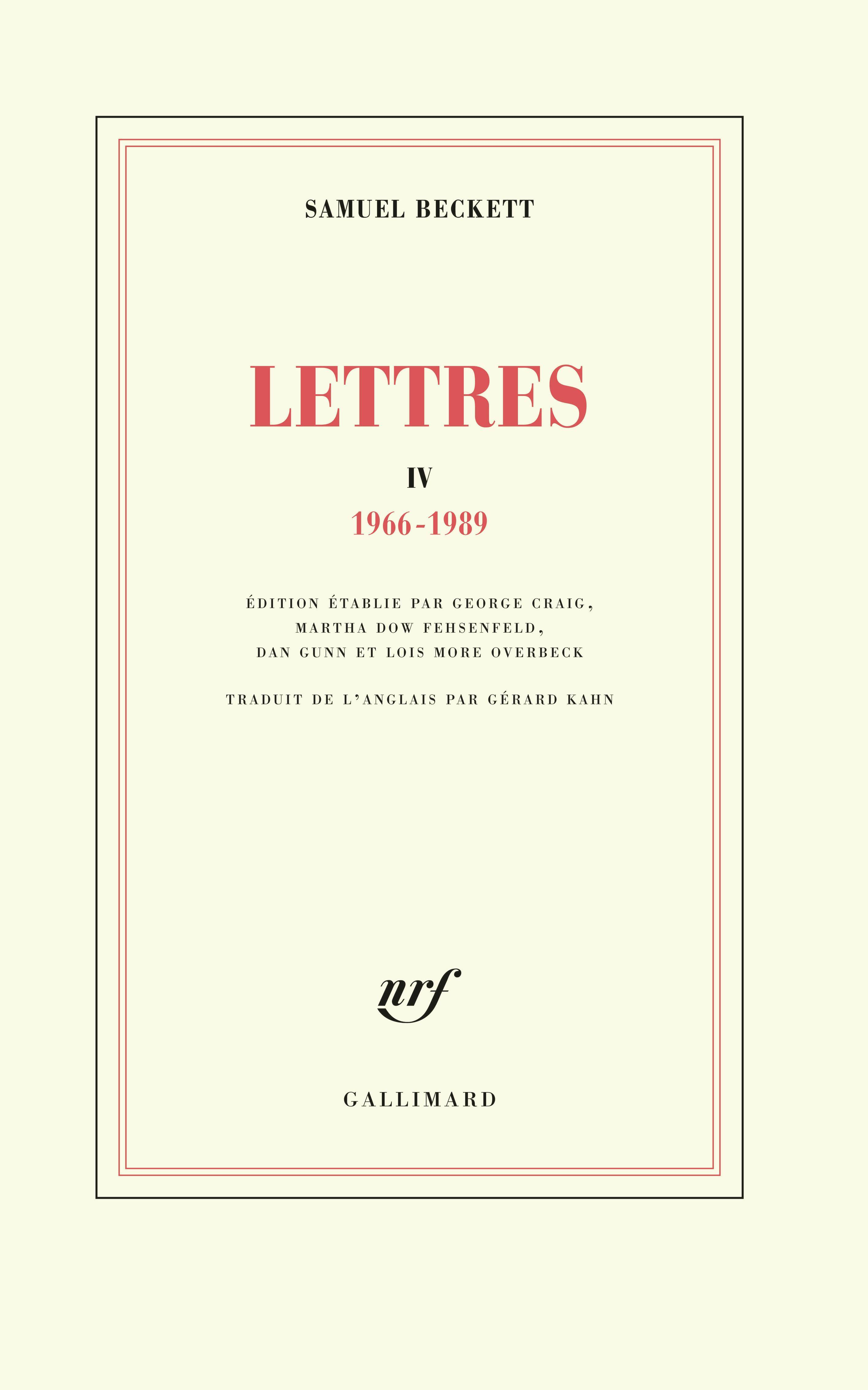 LETTRES IV