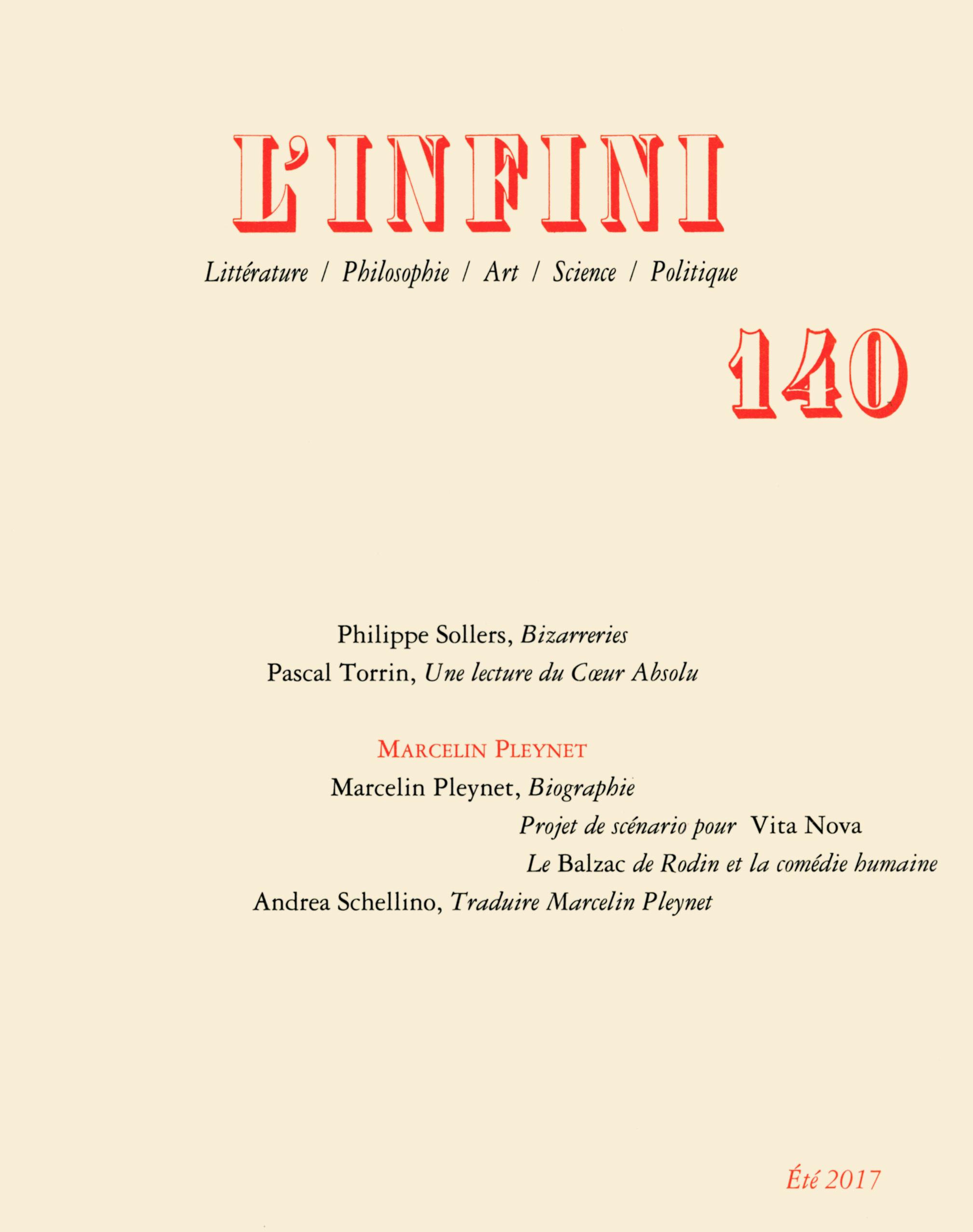 L'INFINI N140