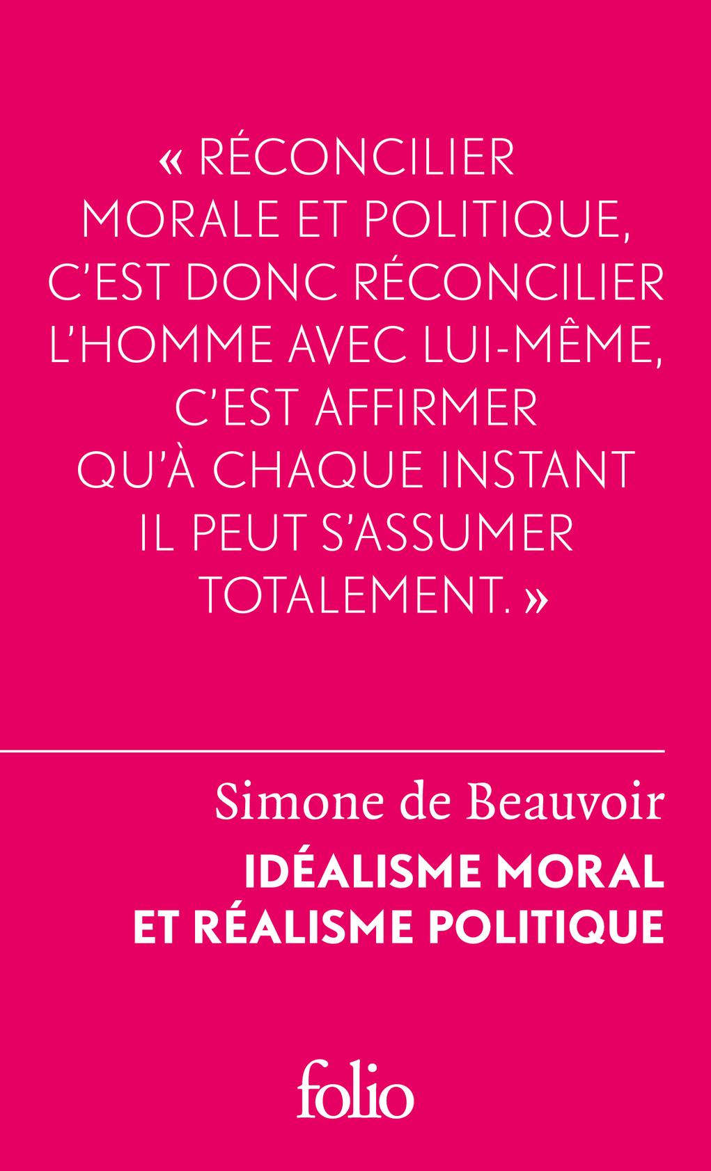 IDEALISME MORAL ET REALISME POLITIQUE