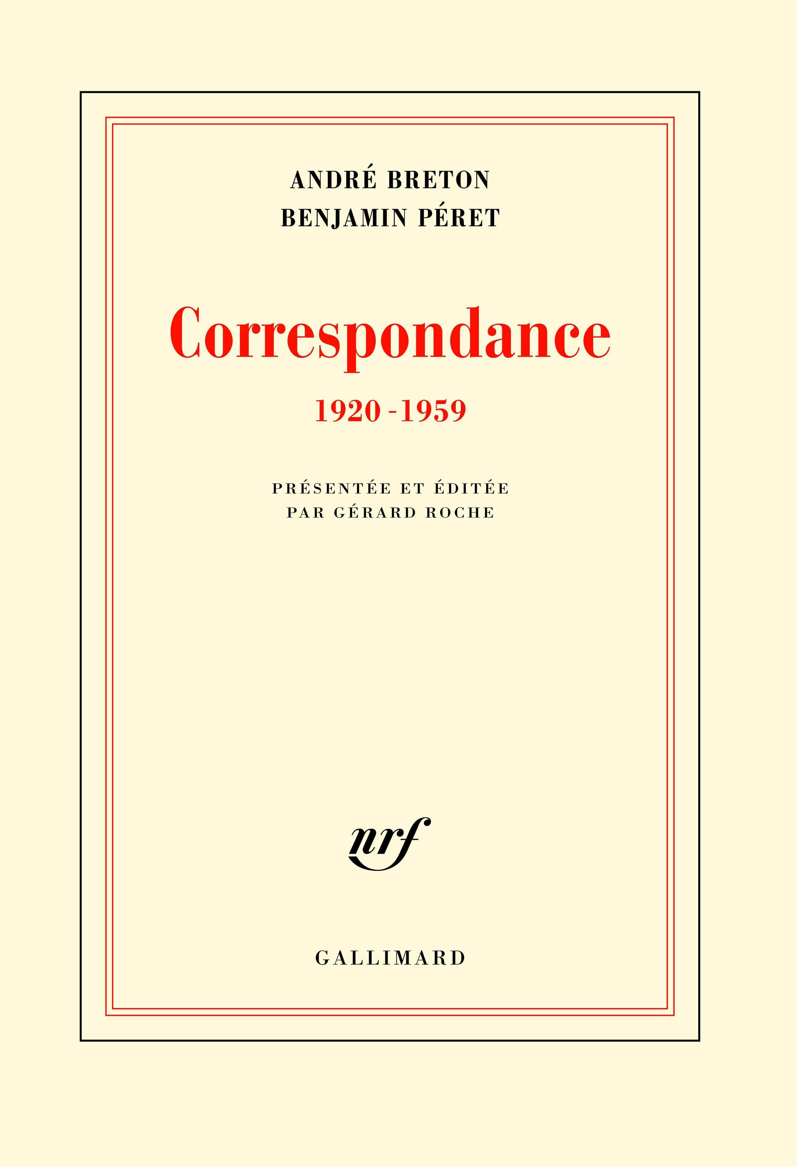 CORRESPONDANCE 1920-1959