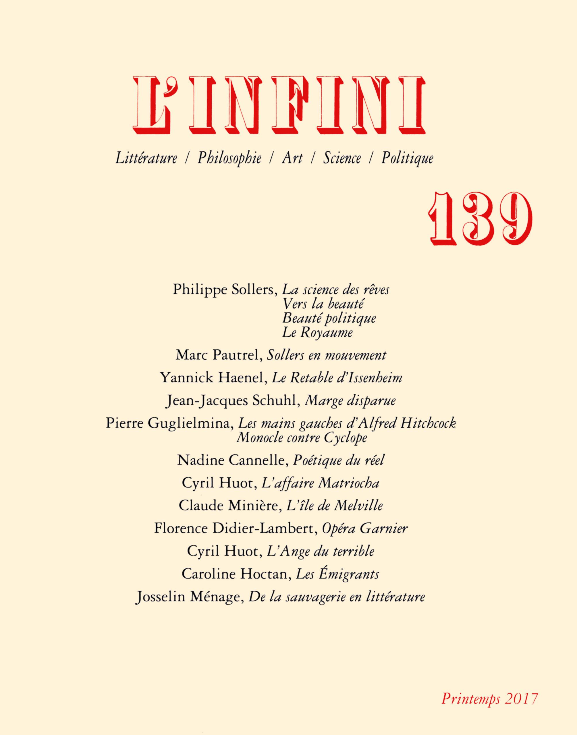 L'INFINI N139