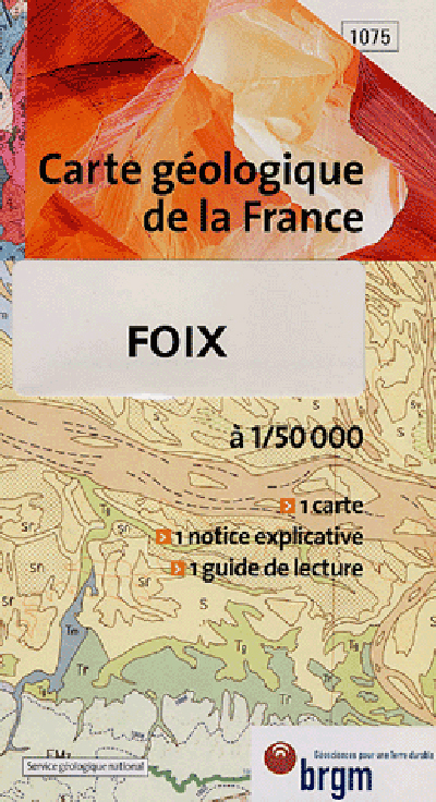FOIX CARTE GEOLOGIQUE 1/50 000