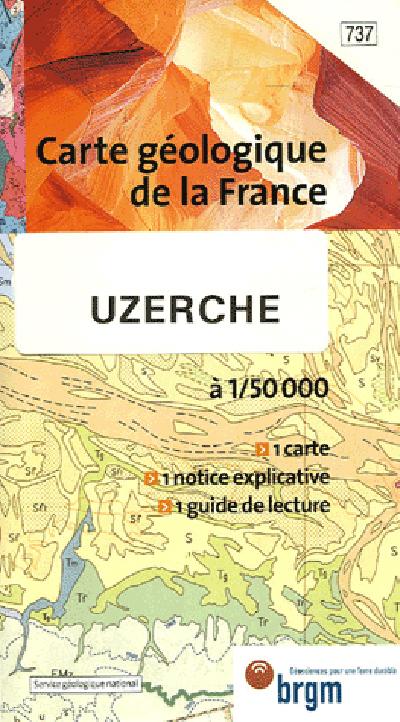 UZERCHE CARTE GEOLOGIQUE 1/50 000 N°737