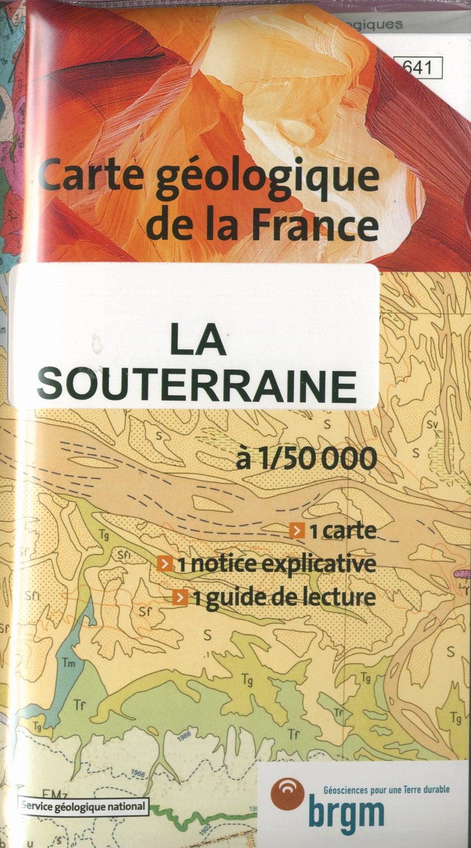 LA SOUTERRAINE 1/50 000 CARTE GEOLOGIQUE